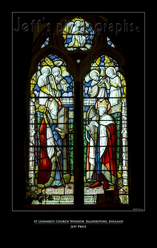 St Leonard's Church Window, Balderstone, England