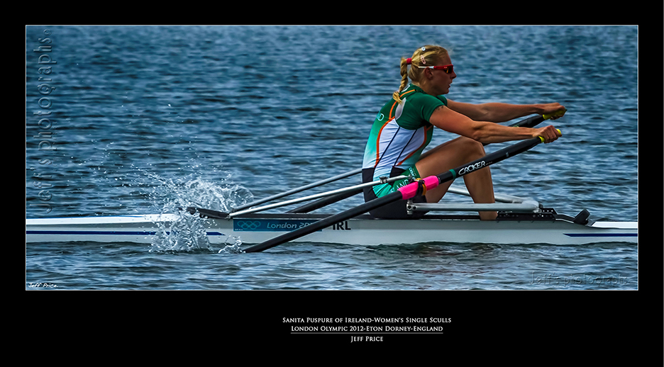 Sanita Puspure of Ireland-Women's Single Sculls London Olympic 2012-Eton Dorney-England