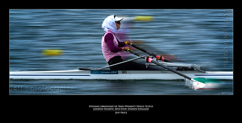 Soulmaz Abbasiazad of Iran-Women's Single Sculls London Olympic 2012-Eton Dorney-England