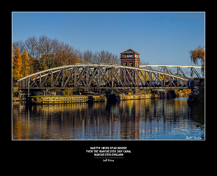 Barton Swing Road Bridge over the Manchester Ship Canal
