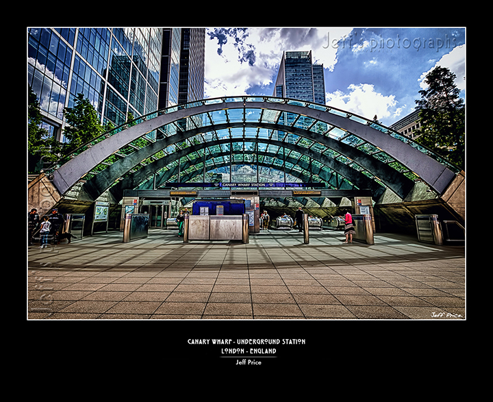 Canary Wharf - Underground Station London - England