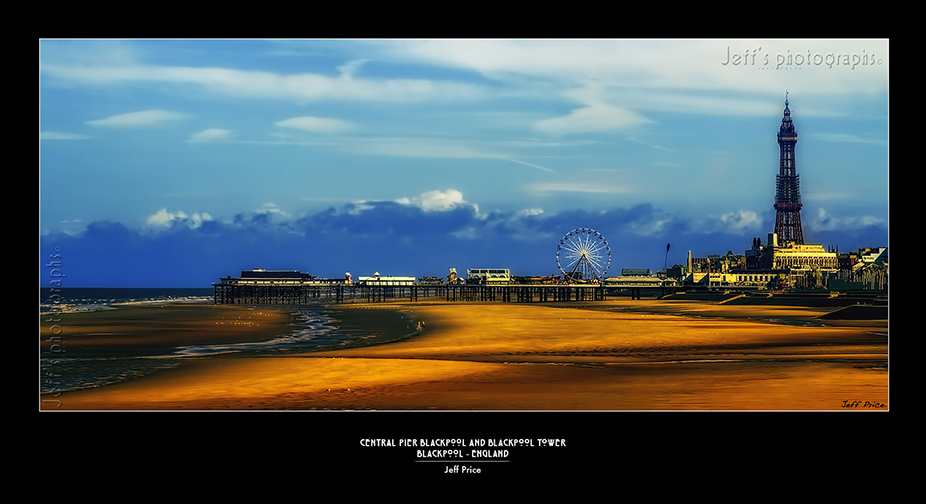 Central Pier Blackpool and Blackpool Tower -Blackpool - England