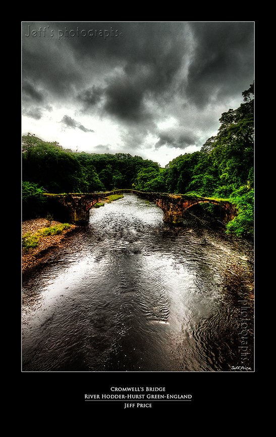 Cromwell's Bridge-River Hodder- Hurst Green-England