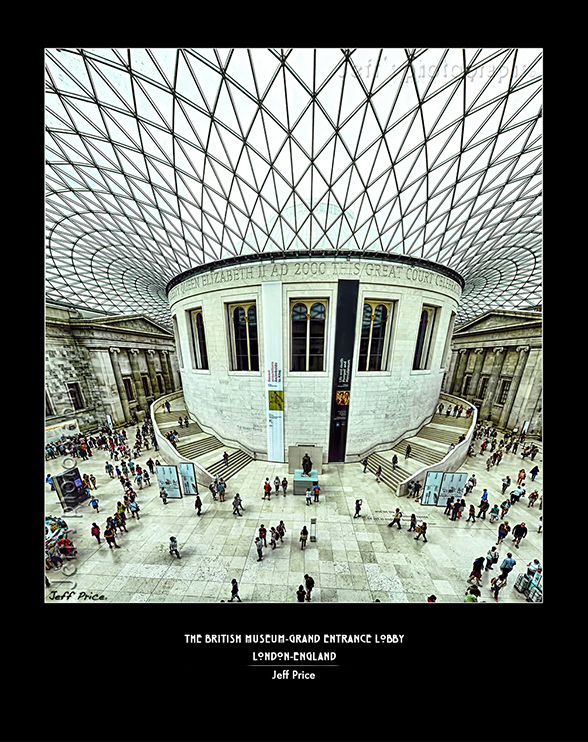The British Museum-Grand Entrance lobby, London, England