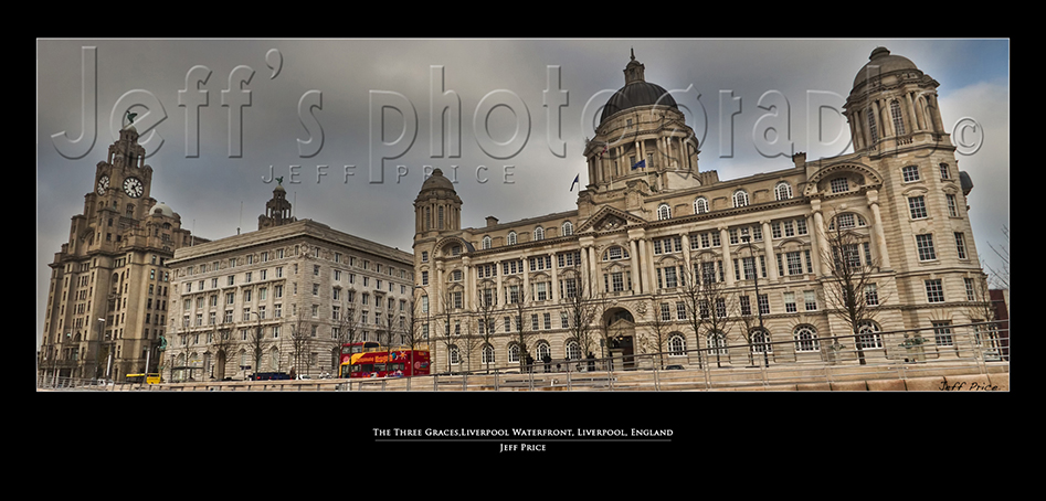 The Three Graces, Liverpool Waterfront, Liverpool, England