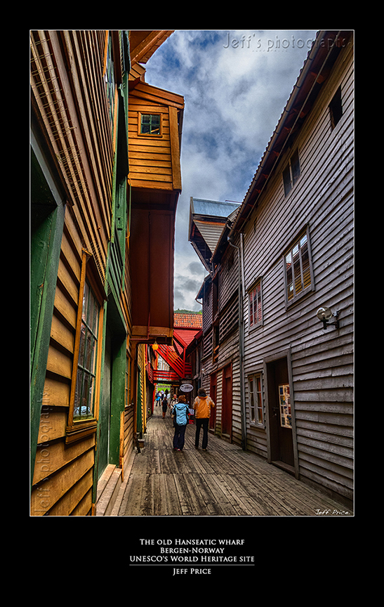 The old Hanseatic wharf Bergen-Norway UNESCO's World Heritage site 1